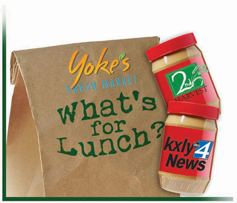Yoke's KXLY What's for Lunch Food Drive